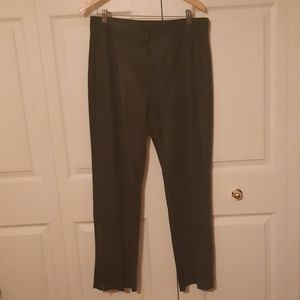 DANIER leather size 10/12 leather boot cut pants